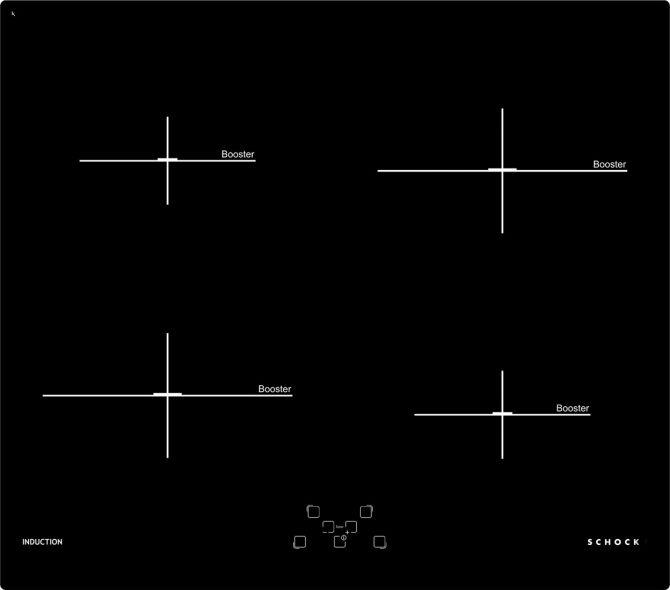 Induzione 60  NERO  Cod. STI64L-