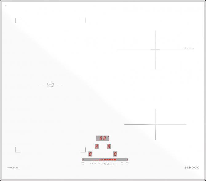 Induzione 60 BRIDGE BIANCO OPACO  Cod. STIB64WHM