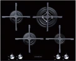 Piani cottura e accessori Cristal black