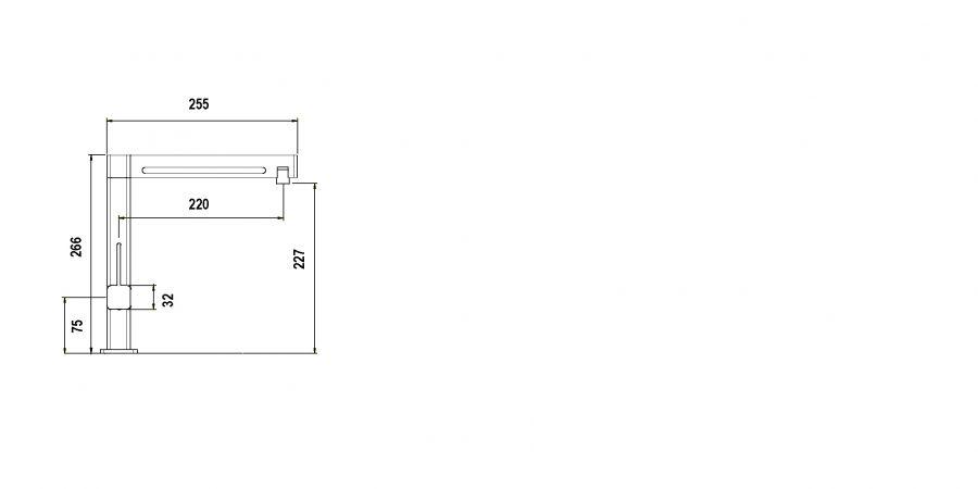 Disegno tecnico AQUAMILL BIANCO PURO   Cod. SXMILL99