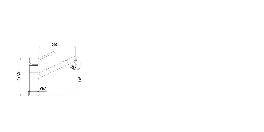 Disegno tecnico AQUATECH NERO PURO  Cod. SXTECH84