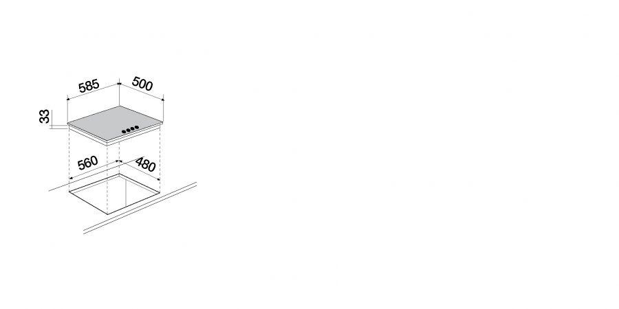 Disegno tecnico Silver PC60 AV INOX  Cod. STS64IX
