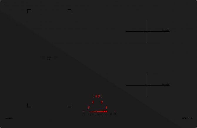 Induzione PC78 BRIDGE NERO OPACO  Cod. STIB84BKE