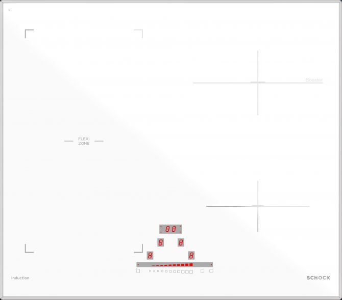 Induzione PC60 BRIDGE BIANCO OPACO  Cod. STIB64WHM