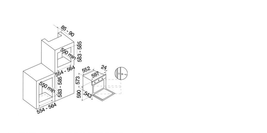 Disegno tecnico Silver F609 NERO  Cod. SFS98BK