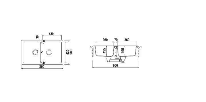 Disegno tecnico Primus N200E GRIGIO TORTORA  Cod. PRIN200EAP42
