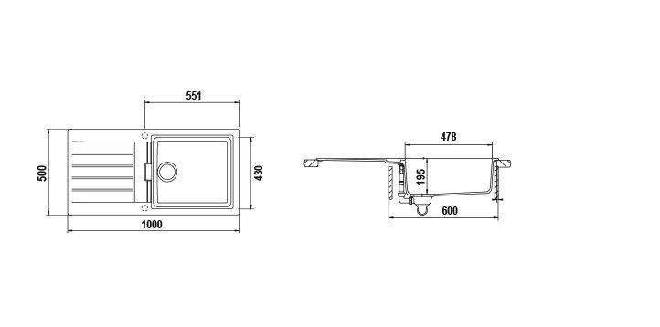 Disegno tecnico Primus D100L NERO ASSOLUTO 13 Cod. PRID100LAP13