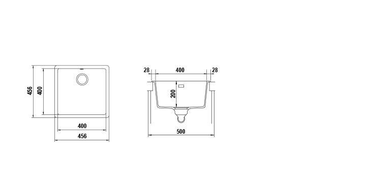 Disegno tecnico Vasche GALAXY N100 BIANCO PURO   Cod. GALN100A99