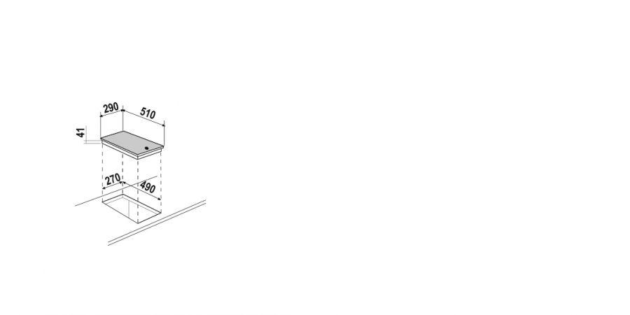 Disegno tecnico Induzione PC30 NERO  Cod. STI32