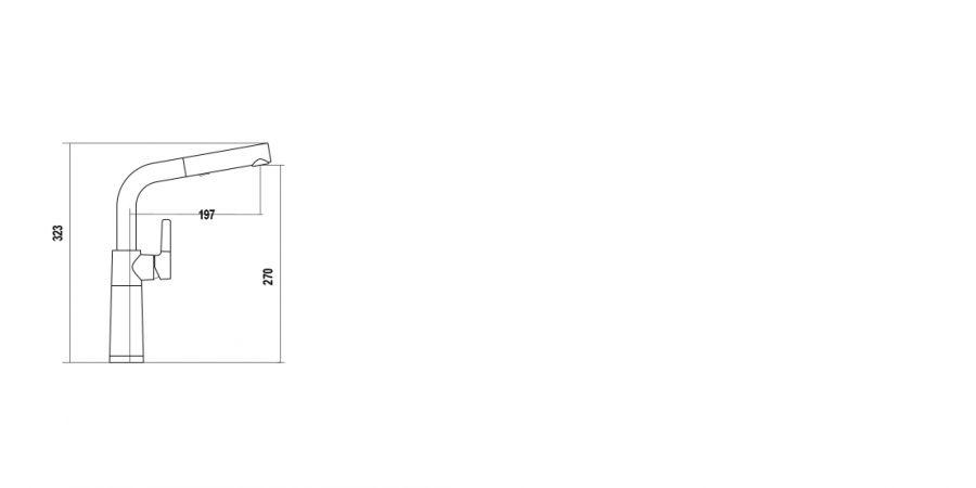 Disegno tecnico SC540 BIANCO PURO   Cod. 55712099