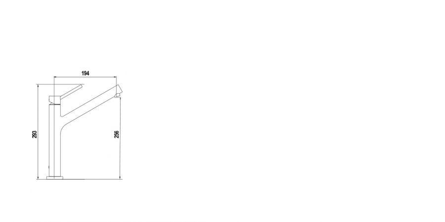 Disegno tecnico DION FINITURA GUN METAL  Cod. 510000GUM