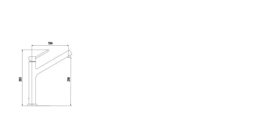 Disegno tecnico DION FINITURA ORO ROSA  Cod. 510000COP