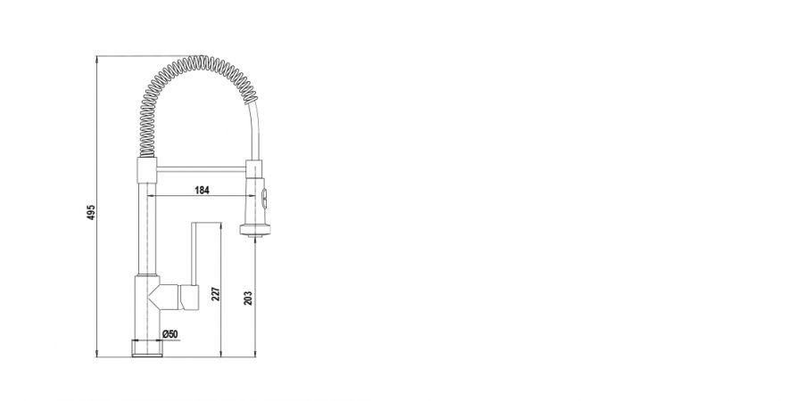 Disegno tecnico AQUASOFT SMALL CROMATO  Cod. SXSOFTS80