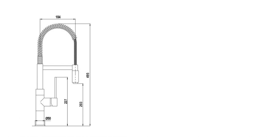 Disegno tecnico NEW AQUASOFT CROMATO  Cod. SXSOFT80