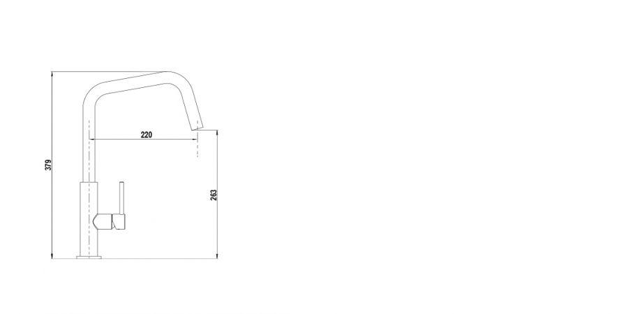 Disegno tecnico TANOS INOX OTTICO  Cod. 516000EDO