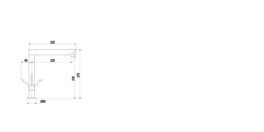 Disegno tecnico NEW AQUAMILL NERO  Cod. SXMILLNBK