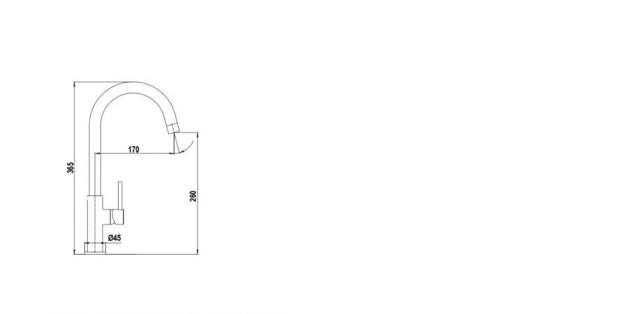 Disegno tecnico AQUADROP T BIANCO PURO   Cod. SXDROPT99