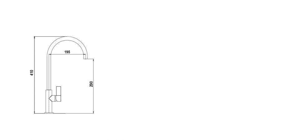 Disegno tecnico NEW AQUAARCO NERO PURO  Cod. SXARCN84