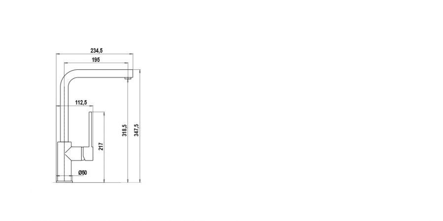 Disegno tecnico AQUATREND NERO ASSOLUTO 13 Cod. SXTREN13