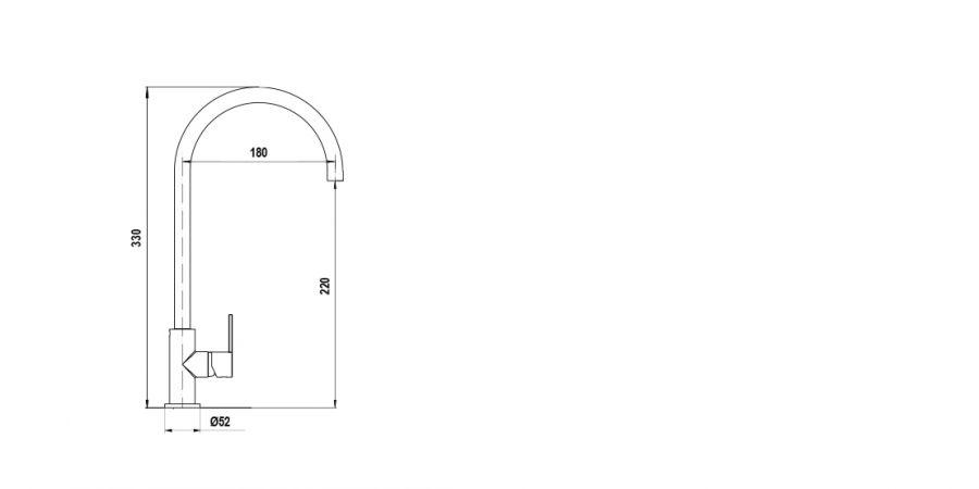 Disegno tecnico AQUACUBE ANTRACITE  Cod. SXCUBE51