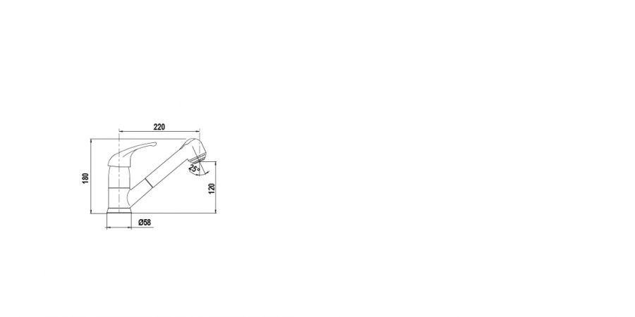 Disegno tecnico AQUAPLUS ANTRACITE  Cod. 40121.51