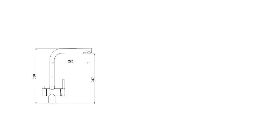 Disegno tecnico VITUS ACCIAIO INOX MASSICCIO  Cod. 560000EDM