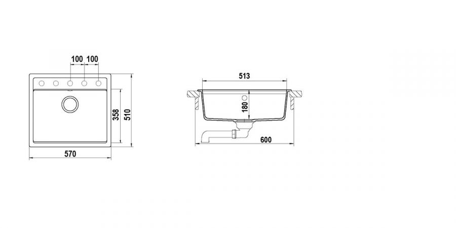Disegno tecnico Nemo N100 NERO ASSOLUTO 13 Cod. NEMN100013