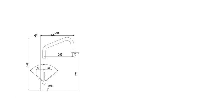 Disegno tecnico AQUATUBE BASE NERO PURO  Cod. SXTUBE84