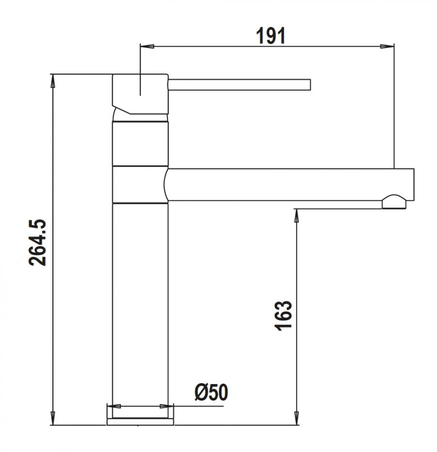 Disegno tecnico AQUALINE NERO ASSOLUTO 13 Cod. SXLINE13