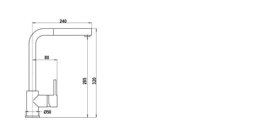 Disegno tecnico AQUATOWN DOCCIA BIANCO ASSOLUTO   Cod. SXTOWD01