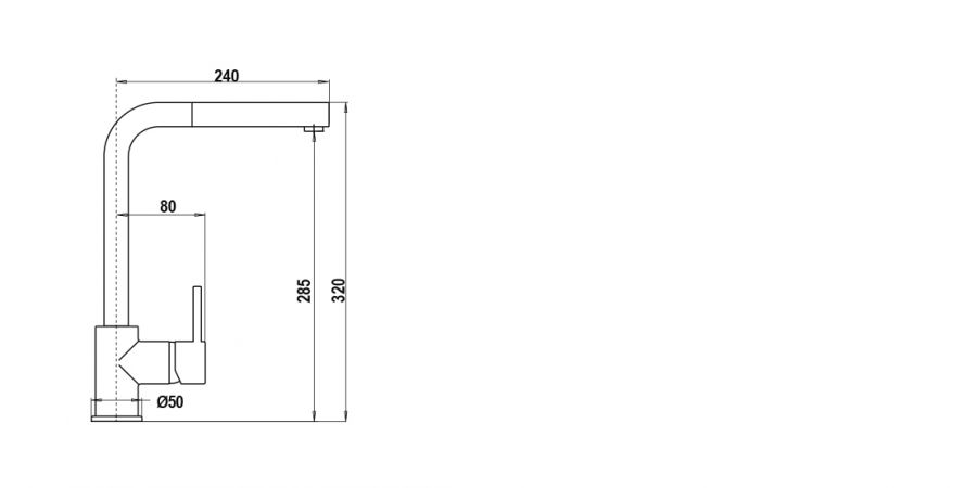 Disegno tecnico AQUATOWN DOCCIA ASPHALT  Cod. SXTOWD43