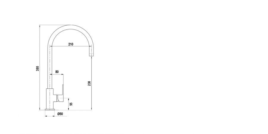 Disegno tecnico NEW AQUAALTO NERO ASSOLUTO 13 Cod. SXALTON13