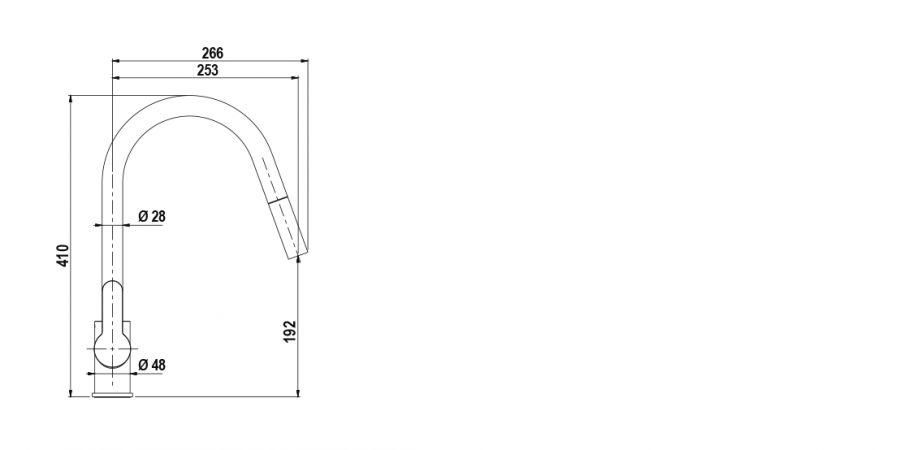 Disegno tecnico AQUAMOON CROMATO  Cod. SXMOON80
