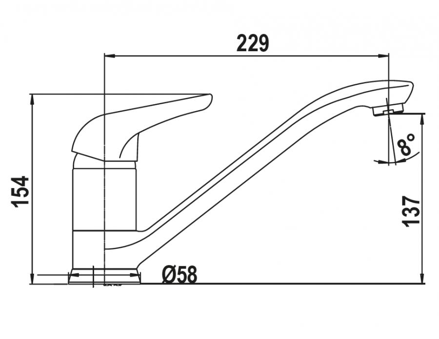 Disegno tecnico AQUALUX ANTRACITE  Cod. 40220.51