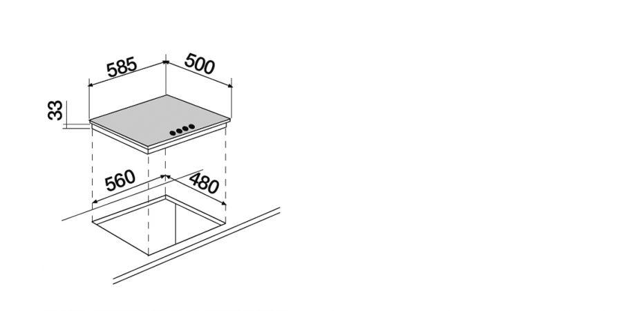 Disegno tecnico Professional PC60 AVG INOX  Cod. STR64HIX