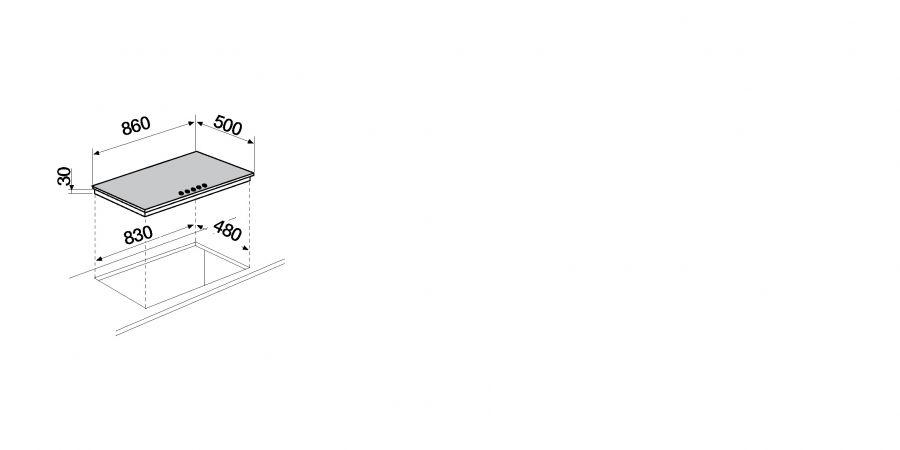 Disegno tecnico Silver PC90 AV ASPHALT  Cod. STS95543