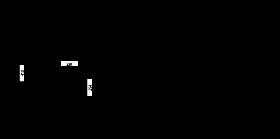 Disegno tecnico GOTA NERO  Cod. 521000BK
